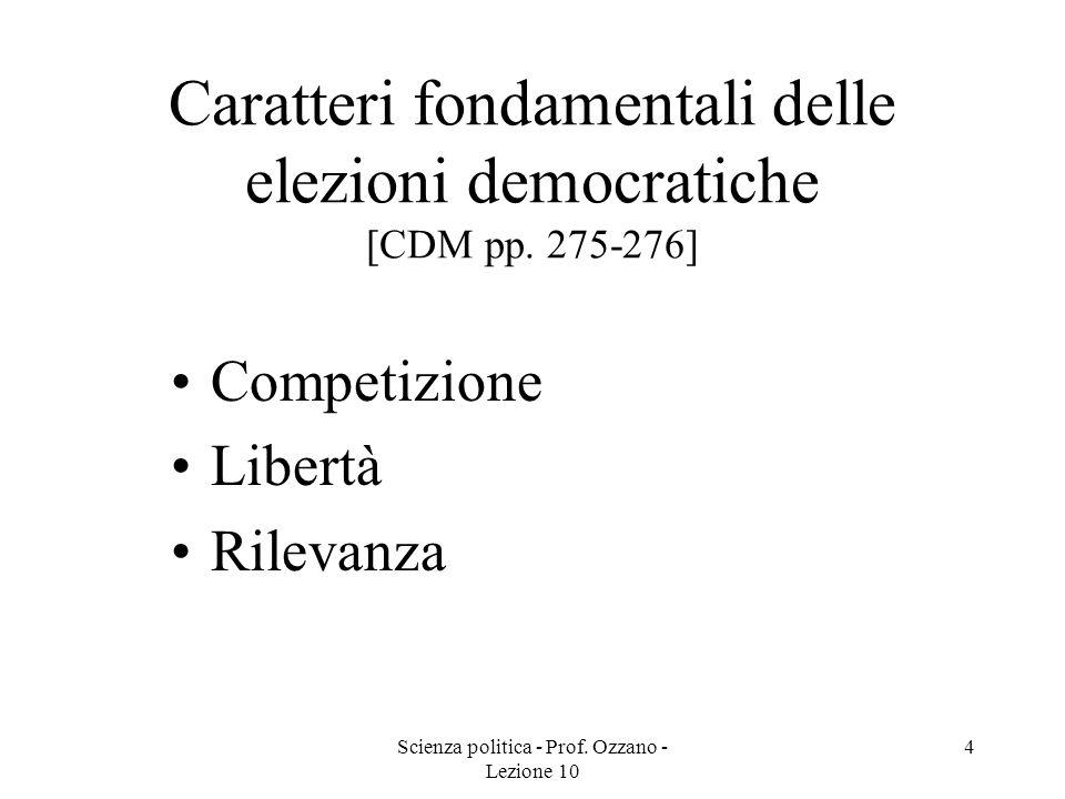 Caratteri fondamentali delle elezioni democratiche [CDM pp. 275-276]